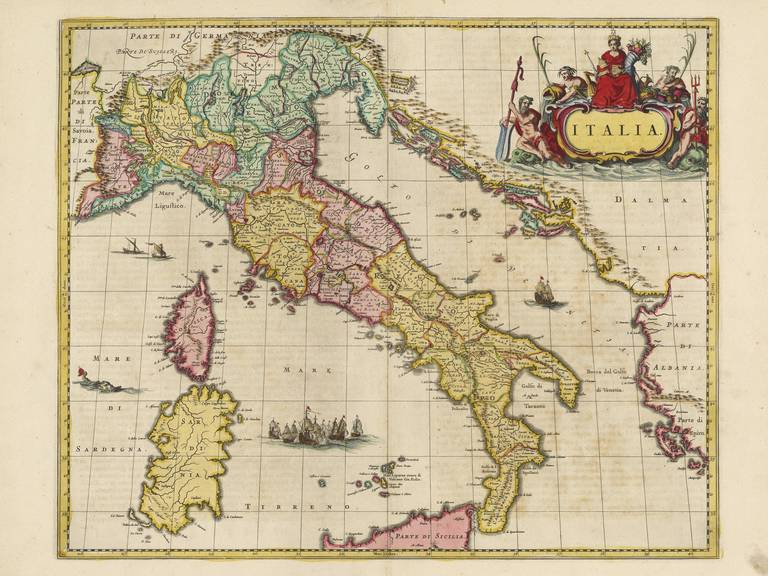 Old Map Of Italy Country Map Blaeu Prints Buy Historical Map Prints - Buy historical maps