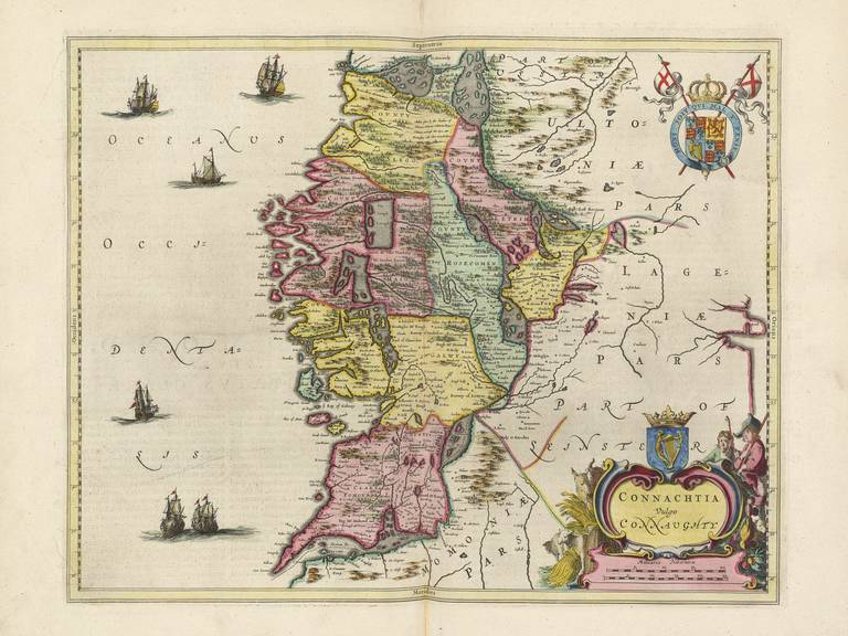 Old map of galway county galway blaeu prints purchase 1 customise your print toggle malvernweather Choice Image