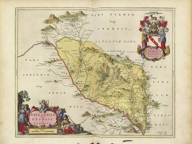 Old Map Of Dumfries And Galloway Scotland Blaeu Prints Buy - Buy historical maps